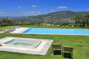 Vakantie agriturismo in zuid toscane met 2 prive cottages zwembad bij arezzo en cortona en umbrie - Zwembad cottage ...